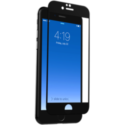 ZAGG invisibleSHIELD Glass Contour - Skärmskyddare - svart - för Apple iPhone 7 IP7CGS-BKE