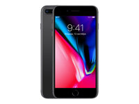 "Apple iPhone 8 Plus - Smartphone - 4G LTE Advanced - 64 GB - GSM - 5.5"" - 1920 x 1080 pixlar (401 ppi) - Retina HD (7 MP främre kamera) - 2 bakre kameror - rymdgrå MQ8L2QN/A"