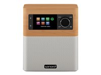 sonoro Stream - Högtalare - LCD - trådlös - Bluetooth, Wi-Fi - maple white decor SO-4100-100-MW
