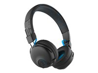 JLab Audio Play Gaming Wireless Headset - Headset - på örat - Bluetooth - trådlös - svart, blå IEUGHBPLAYRBLKBLU4